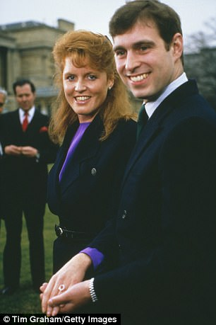It echoes the pale pink ruby Andrew proposed to Fergie with back in 1986