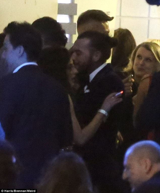 Cheeky! Love Island's Amber Davies and Pete Wicks did little to quash whispers as they were spotted getting close while having a cigarette outside the National TV Awards at London's O2 Arena on Tuesday evening
