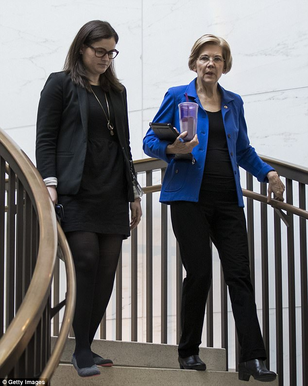When asked Tuesday about Soderbergh's comments, Senator Elizabeth Warren, pictured in October, bluntly said the the director is wrong adding:'Women are where the talent is, the energy is... Women have been getting it done for a long time and that's not going to stop'