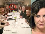 Back and better than ever: Luann (top) was pictured for the first time since leaving rehab to film an upcoming episode of the Real Housewives of New York in Connecticut
