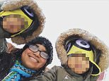 Ruma Ali (pictured, with her sons), 29, asked parents to help with the cost of boys Shiyan and Kiyan's celebration at an indoor play centre in Leicester