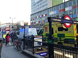 Emergency services arrive at Notting Hill Gate Underground station after the horrifying incident