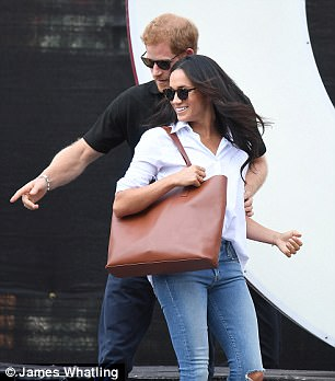 Prince Harry whisked Meghan Markle (above, in September) off to the French Riviera