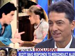It wasn't me: Scott Baio appeared on Good Morning America (above) to deny the allegations being made by Nicole Eggert, who says the actor sexually abused her as a minor