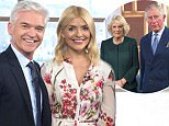 The Prince of Wales and Duchess of Cornwall with Holly Willoughby and Philip Schofield during a visit to the London Television Centre, Lambeth, to celebrate the 90th anniversary of the Royal Television Society. PRESS ASSOCIATION Photo. Picture date: Wednesday January 31, 2018. See PA story ROYAL Charles. Photo credit should read: Geoff Pugh/Daily Telegraph/PA Wire