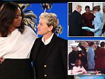 Interview: Ellen took the opportunity to ask about the hilarious encounter with Melania, which took place on the White House steps on January 20, 2017