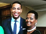 CNN host Don Lemon's older sister, L'Tanya 'Leisa' Lemon Grimes (right), drowned on Wednesday after she fell into a Louisiana pond while fishing. The siblings are pictured above with their mother Katherine (left)