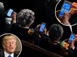 STATE OF THE DEMOCRATS: A Getty Images photographer captured three Congressional Black Caucus members on their phones while Donald Trump delivered his high-stakes speech on Tuesday