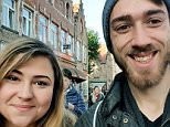 Andreea Dumitrache, pictured left, turned up at the event with her protester boyfriend Josh Connor, pictured right, and the pair were involved in a fracas
