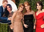 """EXCLUSIVE COVERAGE Ò CALL FOR IMAGE:  (MINIMUM FEES £250 PER IMAGE, £150 ONLINE. ONLY 2 OUT OF THE 10 IMAGES CAN BE USED PER UK NEWSPAPER PUBLICATION.  THESE IMAGES SIT OUTSIDE OF ALL SUBSCRIPTION DEALS) Princess Beatrice, Sarah Ferguson and Princess Eugenie attends the 13th Annual White Tie and Tiara Ball to Benefit Elton John AIDS Foundation in Association with Chopard at Woodside on June 23, 2011 in Windsor, England. NO HELLO, NOW, CLOSER, REVEAL, HEAT, LOOK OR GRAZIA SALES IN THE UK EVER. NO ITALY, SPAIN OR SWITZERLAND SALES BEFORE JUNE 29TH 2011. NO MEXICO SALES BEFORE 8TH AUGUST 2011. All pictures are for editorial use only and mention of """"Chopard"""" and """"The Elton John Aids Foundation"""" are compulsory. No sales ever to any jewellers other than Chopard."""