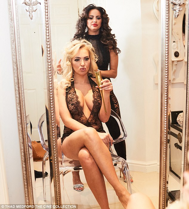 Birthday girl:Aisleyne Horgan-Wallace celebrated her 39th birthday by taking the plunge in a daring lace bodysuit as she posed up a storm for a raunchy new shoot