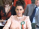Katie Price (pictured in Parliament today) today told of the hate-filled abuse her disabled son Harvey gets - as she took her fight for a new criminal offence of online trolling to be created to Parliament.