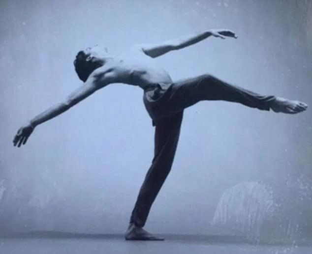 Mr Barnes had trained as a ballet dancer (above) and choreographer before taking on the role