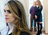 Hope Hicks found nothing to smile about on Friday morning as she made her way to the Oval Office