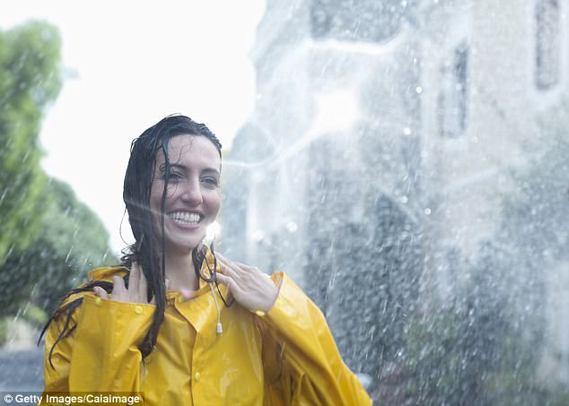 Martyn suggests washing your hair with rain water will help give it shine because the soft water has no chemicals