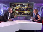 Jordan Peterson, left, was frilled for 30 minutes by Cathy Newman on Channel 4 last month