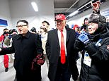 Two pranksters caused a stir at the Winter Olympics in South Korea opening ceremony by dressing up as Donald Trump and Kim Jong-Un