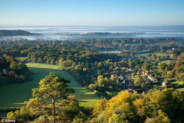 Picturesque: Reigate in Surrey is a popular site for dogging, according to recently-released statistics