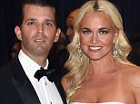 Vanessa Trump was hospitalized on Monday after opening a letter with a white powder inside of it. She's pictured above with her husband, Donald Trump Jr., in April 2016