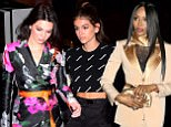 Kendall Jenner and Kaia Gerber were spotted arriving at a Off White c/o Jimmy Choo Dinner in Chelsea on Sunday. Kendall wore a floral pants suit, with 2 Off white belts wrapped tightly around her waist, while Kaia wore a Supreme Crop top, with black slacks and a Black and white fur coat. They arrived together to the busy event attended by some of fashions elite.\n<P>\nPictured: Kendall Jenner, Kaia Gerber\n<B>Ref: SPL1657988  110218  </B><BR/>\nPicture by: 247PAPS.TV / Splash News<BR/>\n</P><P>\n<B>Splash News and Pictures</B><BR/>\nLos Angeles: 310-821-2666<BR/>\nNew York: 212-619-2666<BR/>\nLondon: 870-934-2666<BR/>\nphotodesk@splashnews.com<BR/>\n</P>