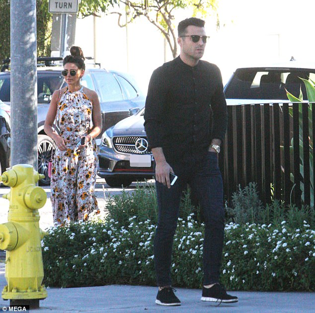 Missing out: The couple enjoyed their outing in sunny Los Angeles as they made a rare decision to skip the National Television Awards back in London