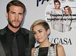 Mandatory Credit: Photo by Matt Baron/BEI/REX/Shutterstock (2782595c) Liam Hemsworth and Miley Cyrus 'Paranoia' film premiere, Los Angeles, America - 08 Aug 2013