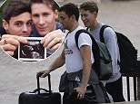 Tom Daley and his husband Dustin Black were seen smiling in Austin, Texas yesterday, just days after announcing they are to have a child