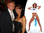 Karen McDougal (pictured with Donald Trump in 2006 above) says she met the future president at a Playboy Mansion party in 2006, shortly after his wife Melania had given birth to their son Barron