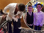 Simon Cowell shared a heart-melting hug with five-year-old Kian Musgrove, whosuffers from rare childhood cancer neuroblastoma