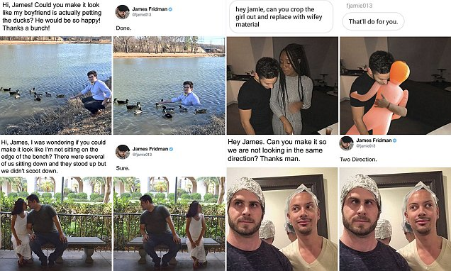 James Fridman takes Photoshop requests very literally