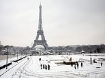 The Eiffel Tower has been closed due to severe weather (Thibault Camus/AP/PA)
