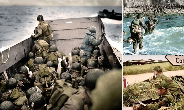 Colourised pictures of D-Day heroes seen for first time