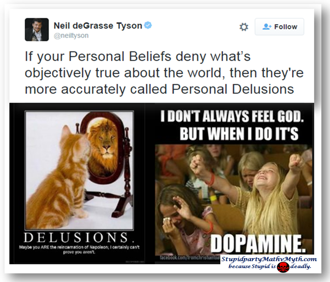 Neil deGrasse Tyson hits the nail on the head.