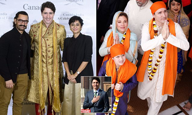 Justin Trudeau ridiculed by Indians for his 'fake' outfits