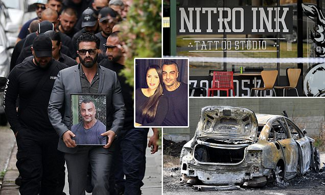 Inside Comanchero leader Mick Hawi's funeral and burial