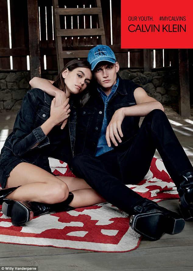 Sibling chic! Kaia and Presley Gerber appear together in a new Calvin Klein campaign