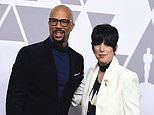 """FILE - In this Feb. 5, 2018 file photo, Common, left, and Diane Warren pose at the 90th Academy Awards nominees luncheon in Beverly Hills, Calif. Common and Warren are nominated for best original song for the film """"Marshall.""""  (Photo by Jordan Strauss/Invision/AP)"""