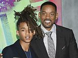 """FILE - In this Aug. 1, 2016 file photo, Jaden Smith, left, and his father Will Smith attend the world premiere of """"Suicide Squad"""" in New York. The Smiths have founded an eco-friendly bottled-water company called Just, which is unveiling a new line of flavored waters next month. (Photo by Evan Agostini/Invision/AP, File)"""