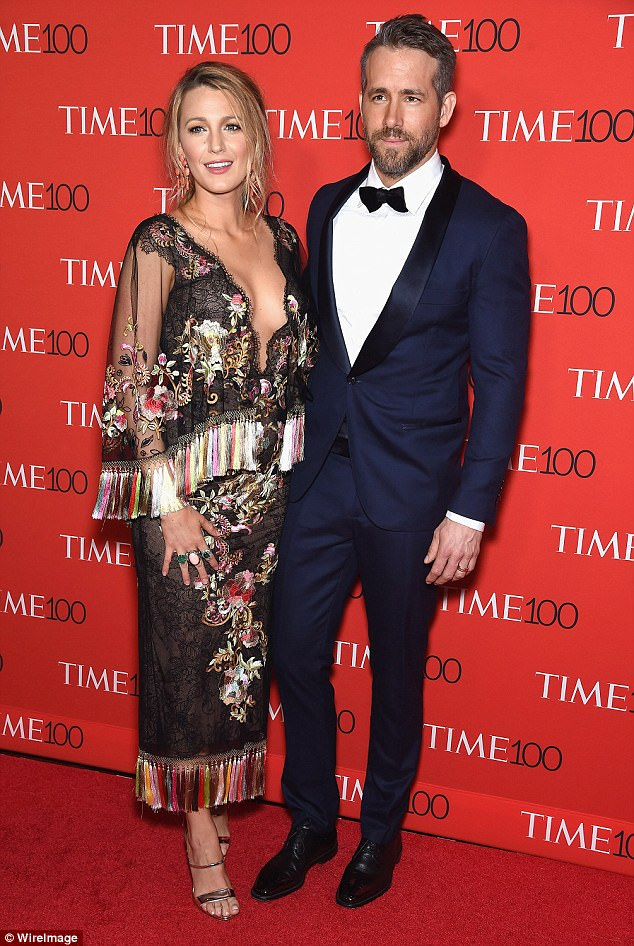 Love:It was on the Green Lantern set where she met her husband Ryan Reynolds, and the couple now shares two daughters- James, three, and Ines, one; seen in April