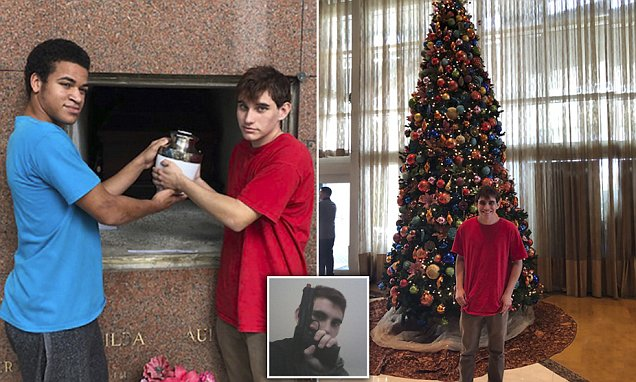 Florida gunman is pictured burying his mother's ashes