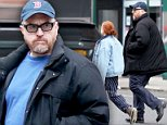 Louis C.K., 50, stepped out in New York's West Village on Sunday as he treated his 12-year-old daughter Mary Louise Szekely to some ice cream