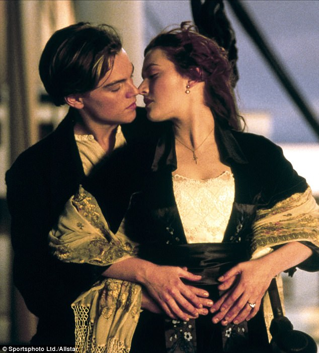 Love:The duo's first time working together was more than two decades ago when Winslet starred as Rose Dewitt Bukater alongside Leonardo DiCaprio as Jack Dawson in the film Titanic; seen in Titanic in 1997