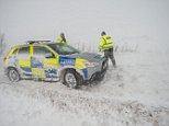 A 'multi car accident' in the snow today has caused chaos on the M66 between Ramsbottom and Bury in Greater Manchester