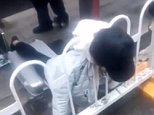 A young Chinese woman has died after getting her neck stuck in a fence in central China