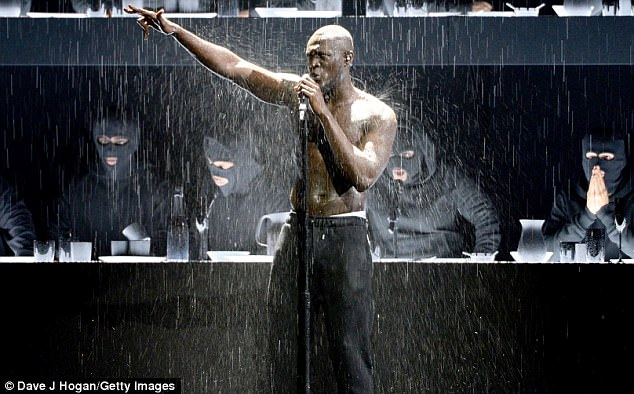 Making a statement! In a direct rap, addressed to the British Prime Minister, Stormzy said: 'Yo Theresa May, where's the money for Grenfell?'