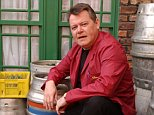 Iain Rogerson (pictured on Coronation Street set) played Harry Flag for two years before being axed from the show and also appeared in The Bill, Heartbeat, Emmerdale and Doctors