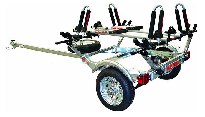 malone auto racks microsport trailer-two kayak and bike transport review