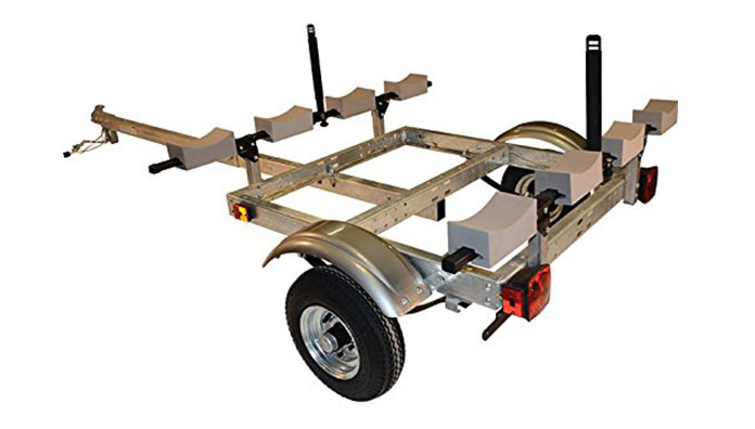 malone xtralight trailer package kayak-rack and stacker blocks review