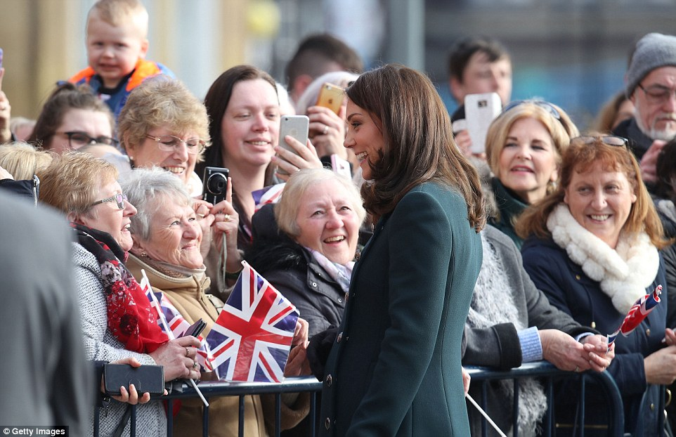 Kate was greeted by hundreds of well-wishers as she and Prince William arrived in Sunderland for a visit