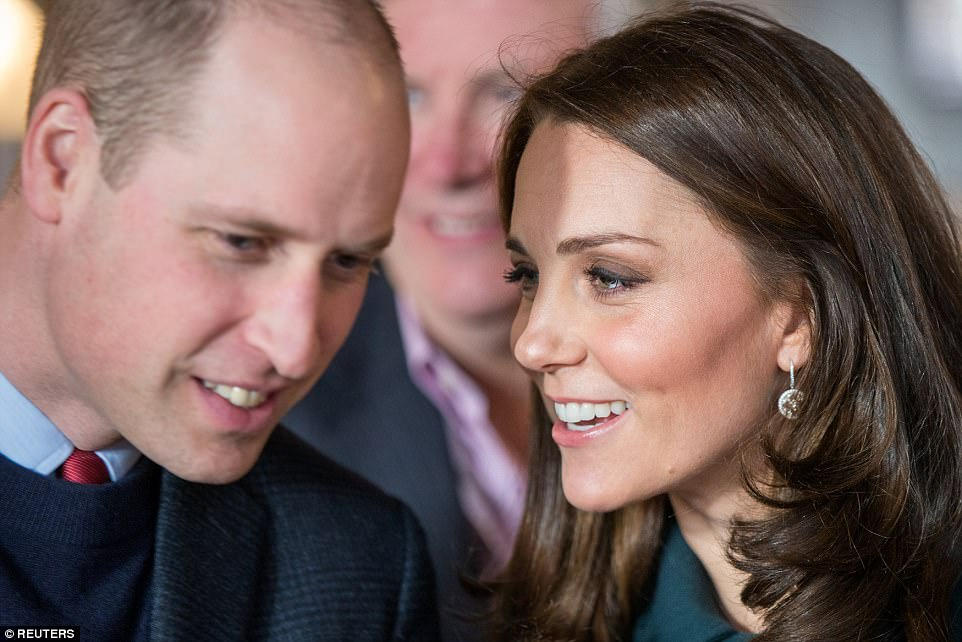 The Duke and Duchess of Cambridge appeared to be in high spirits during their tour of the arts and music club